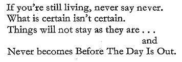 Bertolt Brecht's ' In Praise of Dialectics'